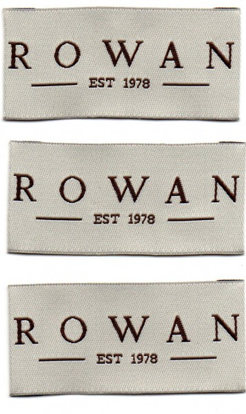 Einnähetiketten Rowan