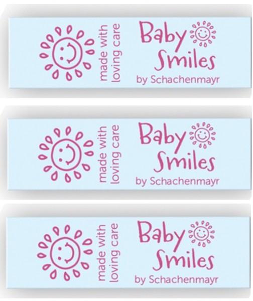 Einnähetiketten Baby Smiles