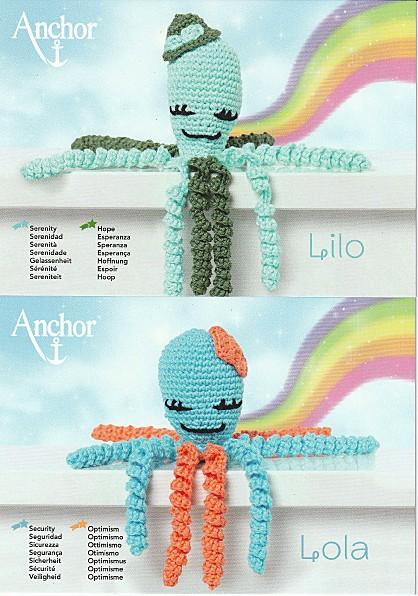 Häkelset Oktopus Lola & Lilo D1