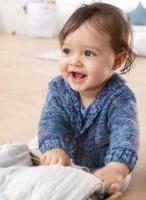 Babyjacke Blau Color