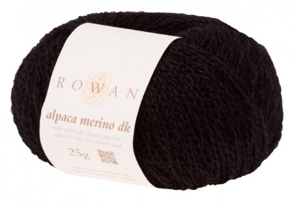 Alpaca Merino DK in schwarz